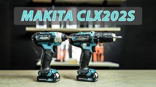Combo máy khoan búa và máy bắt vít dùng pin Makita CLX202S