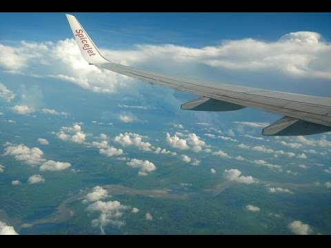 Earth view from Plane Window | View of Sky Clouds & Land | Spicejet Flight Take Off Bagdogra Airport