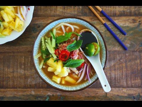 Asam Laksa (Assam Laksa/Spicy & Sour Fish Noodles)