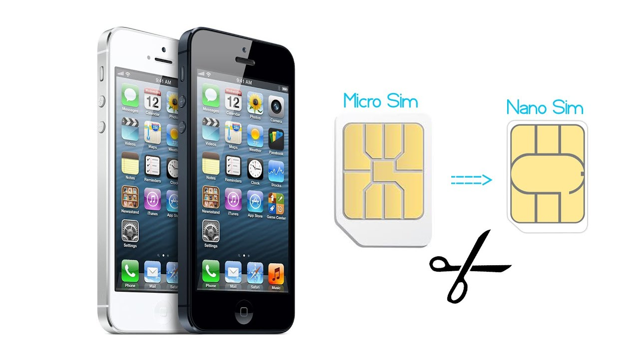 iPhone 5: How To Convert Micro SIM Card into Nano SIM Card - YouTube