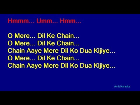 o-mere-dil-ke-chain---kishore-kumar-hindi-full-karaoke-with-lyrics