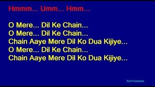 Kishore kumar hindi karaoke with lyrics o mere dil ke chain film: jeevan saathi (1972) if you like this then please click button, or you...