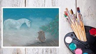 Видео урок Рисуем Пастелью Ёжика в тумане! #Dari_Art