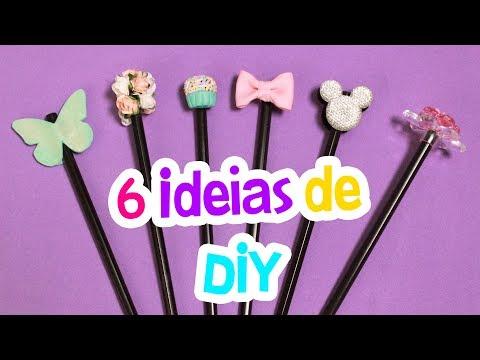 DIY 6 IDEIAS DE CUSTOMIZAÇÃO PARA O SEU LÁPIS ou CANETA - por Prih Gomes