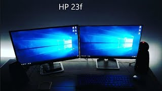 HP 23f Monitor Unboxing and Setup (vs HP 23es)