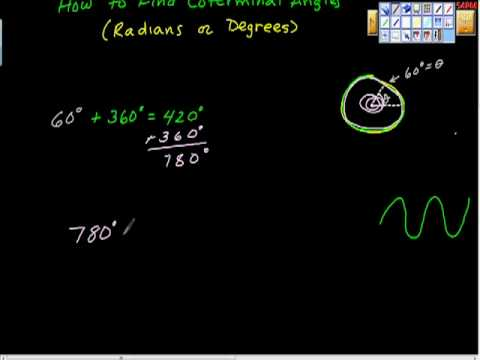 How to Find Coterminal Angles (positive and negative) Degrees  Precalculus