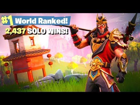 #1 Fortnite World Ranked - 2,437 Solo Wins