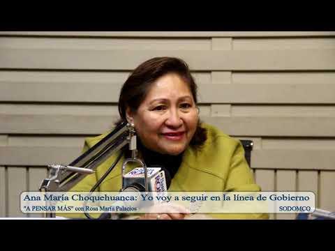 Ana María Choquehuanca: Yo voy a seguir en la línea de Gobierno