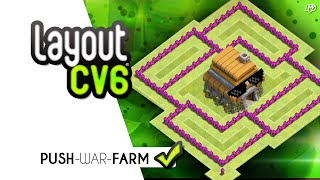 Layout CV6 Para War/Farm/Push ☑ (2 DEFESAS AÉREAS) - Clash of Clans