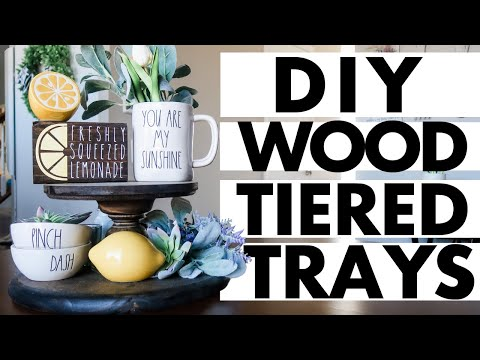 diy-wood-tiered-tray-&-pedestals-||-quick-&-easy!-||-farmhouse-decor