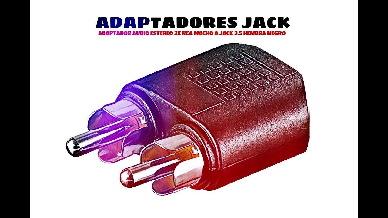 Cablepelado Adaptador Audio Estereo 2X RCA Macho a Jack 3.5 Hembra Negro