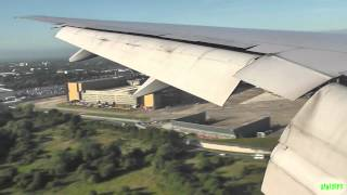 United 777-200ER Gorgeous Speedy Approach and Landing at London Heathrow!