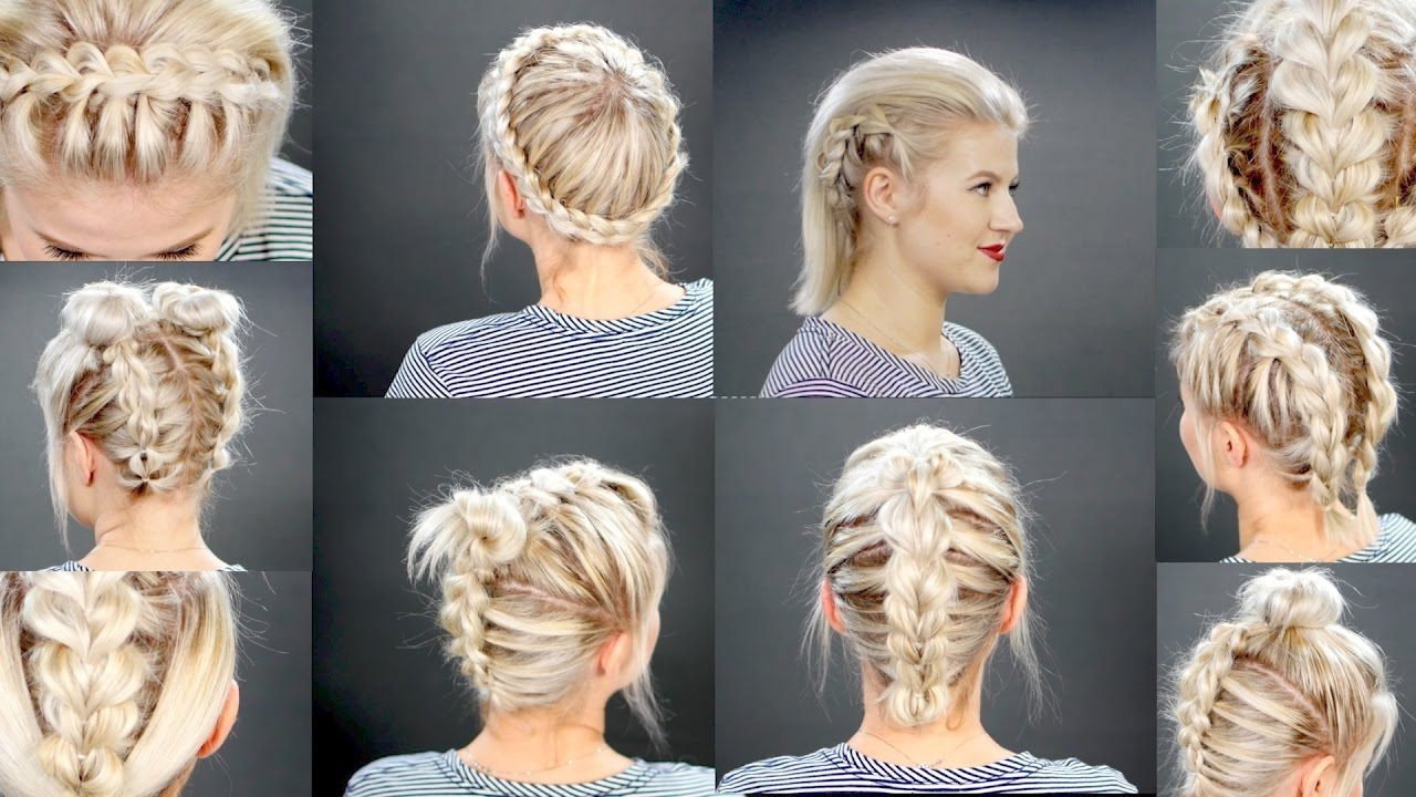 faux braided short hairstyles