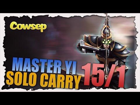 SOLO CARRY KOREA - 15/1 MASTER YI JUNGLE - Cowsep