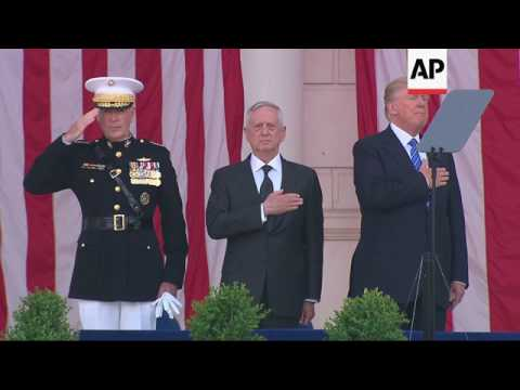 Trump Sings National Anthem