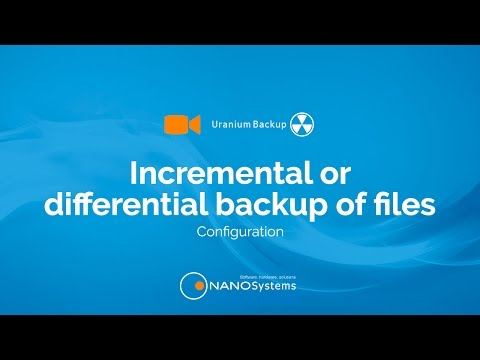 Configure an Incremental // Differential Backup of files