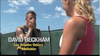 Caroline Wozniacki Meets David Beckham