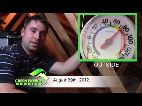 Green Energy Barrier - Reflective Attic Insulation