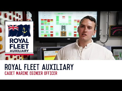 Working as a Cadet Marine Engineer Officer in the Royal Fleet Auxiliary