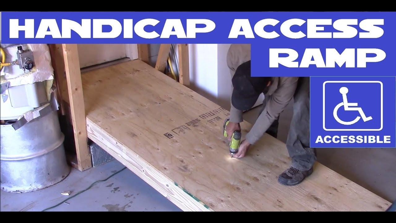 Diy Handicap Wheelchair Access Ramp