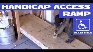 DIY Handicap / wheelchair access ramp