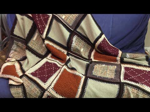 Плед из старых свитеров своими руками фото