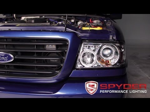 spyder auto installation 2001 11 ford ranger 1pc halo projector headlights youtube spyder auto installation 2001 11 ford ranger 1pc halo projector headlights