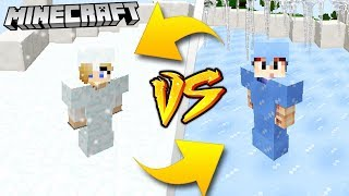 ŚNIEG VS LÓD - MINECRAFT | Vito VS Bella