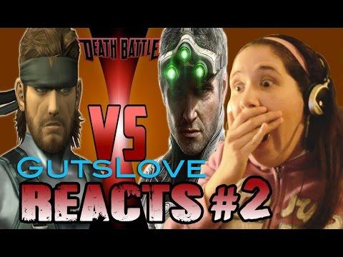 Gutslove REACTS #2 DeathBattle: Solid Snake vs Sam Fisher