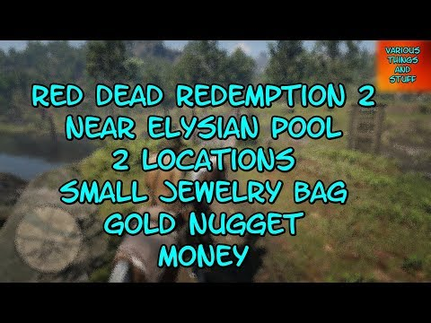 Red Dead Redemption 2 Elysian Pool 2 Locations Small Jewelry Bag Gold Nugget Money