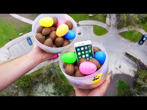 Can Giant Easter Egg Filled with Cadbury Eggs Protect iPhone 6S? 100 FT Drop Test