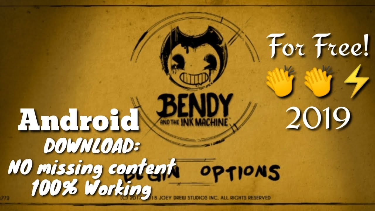 Download Bendy And The Ink Machine On Android Free Working