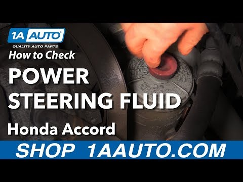 How to Check Power Steering Fluid 03-07 Honda Accord