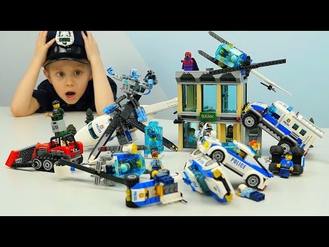 Лего полиция-Полицейскую Машину-Мультфильм про Лего -Лего игры юниоров Super Транспорт