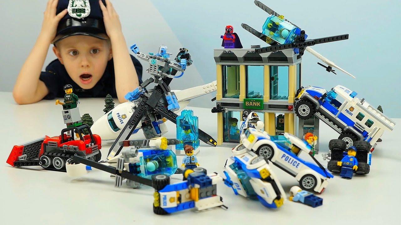 Лего Полиция и ограбление Банка Лего Сити 60140 - Мистер Фриз и его ледяная атака 70901