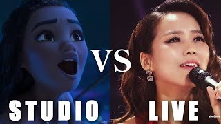 Disney Princesses - STUDIO vs LIVE performances (PART 2)