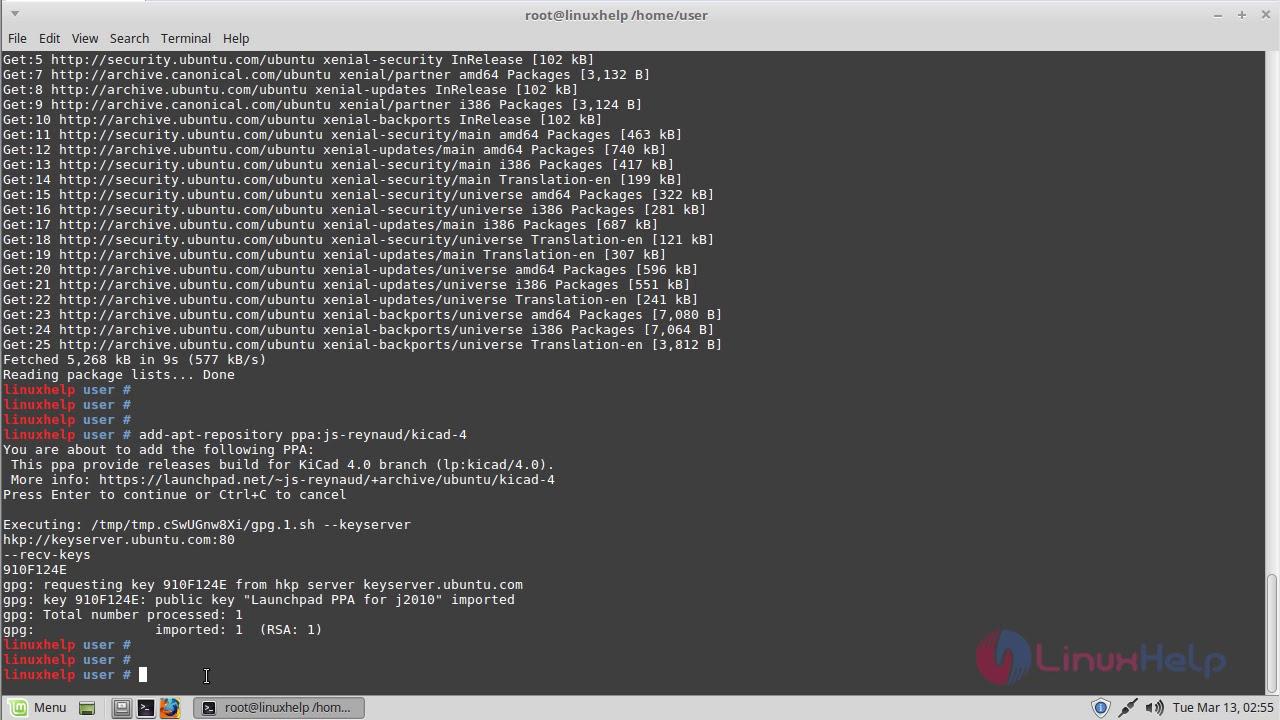 kicad linux