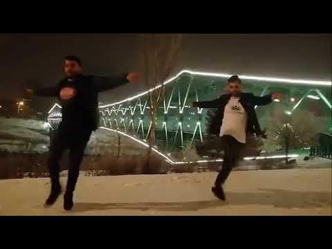 رقص آذربایجانی دو جوان در یاشیل کورپی تبریز Tabriz Dance