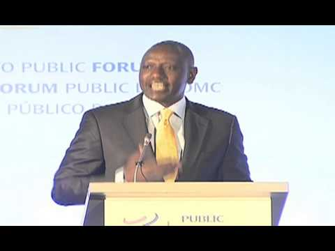 Deputy President at World Trade Organisation Forum