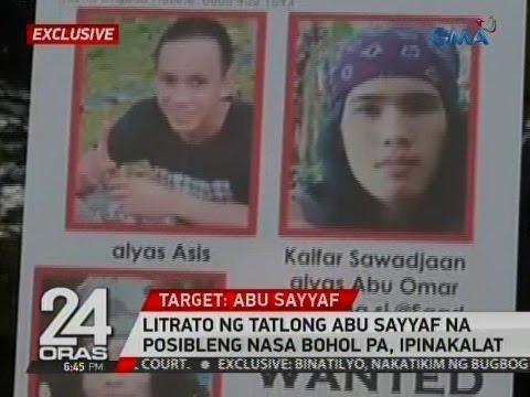 24 Oras: Exclusive: Litrato ng tatlong Abu Sayyaf na posibleng nasa Bohol pa, ipinakalat