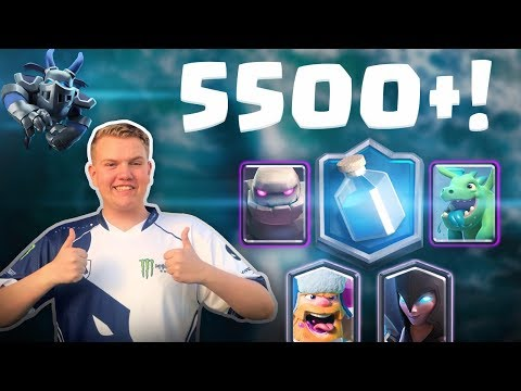 INSANE GOLEM LIGHTNING DECK! 5,500+ LIVE Ladder Gameplay - Clash Royale