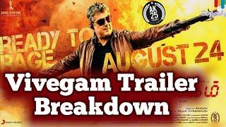 Vivegam Official Trailer Break down | Ajith | Siva | Kajal | Akshara
