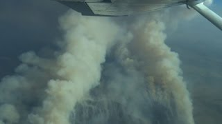 Raw: Idaho Wildfire Moving Fast North and East