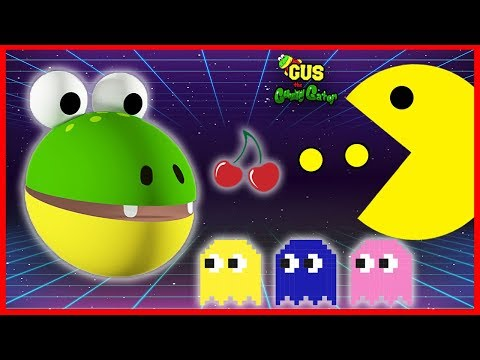 Let's Play Pac Man Vintage Game Giant Life Size Pac Man Gus The Gummy Gator