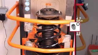 TOYOTA Corolla Verso ll - FRONT - Передние амортизаторы KYB установка