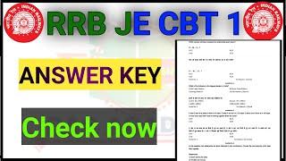 Rrb je cbt 1 answer key out||rrb je answer key release||rrb je answer key 2019||rrb je RESULT||rrb