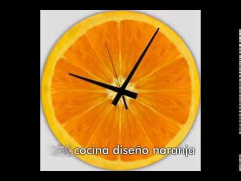 Reloj cocina diseño naranja - YouTube