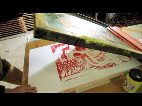 The Flaming Lips - Wayne prints a poster using his own blood