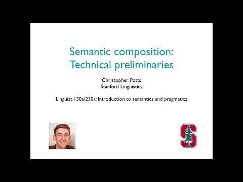 Linguist 130a - Semantic composition 1: Technical preliminaries
