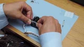 How to adjust the metal bracelet on a wristwatch. Links with Screws.